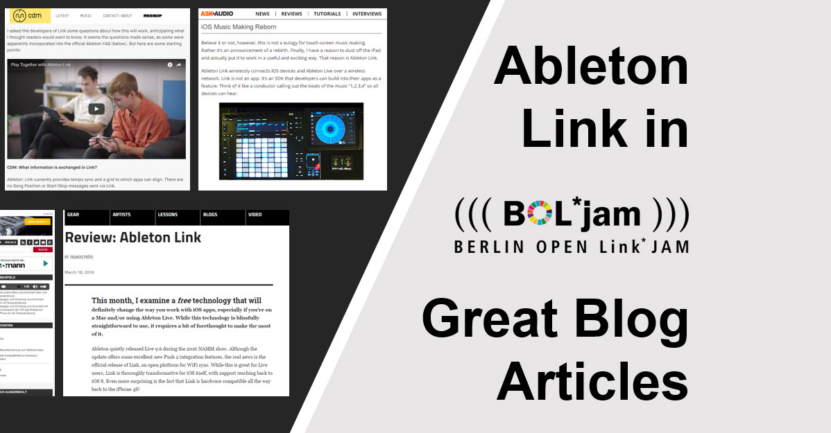Ableton Link in Great Blog Articles